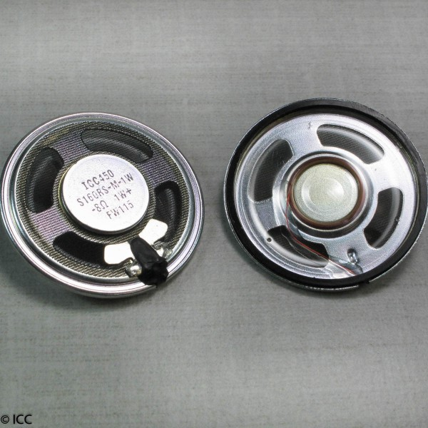 MICRO-MINIATURE LOW PROFILE ROUND SPEAKER