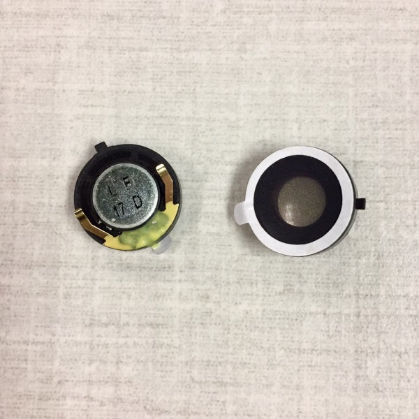 MICRO-MINIATURE SPEAKER, SPRING MOUNT WITH DOUBLE FACE TAPE